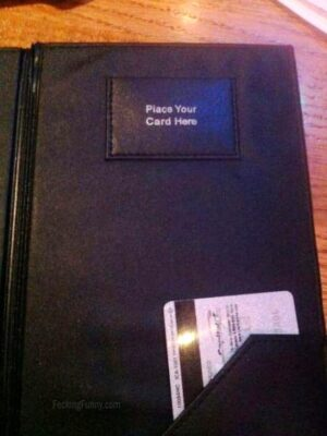 Place your card here