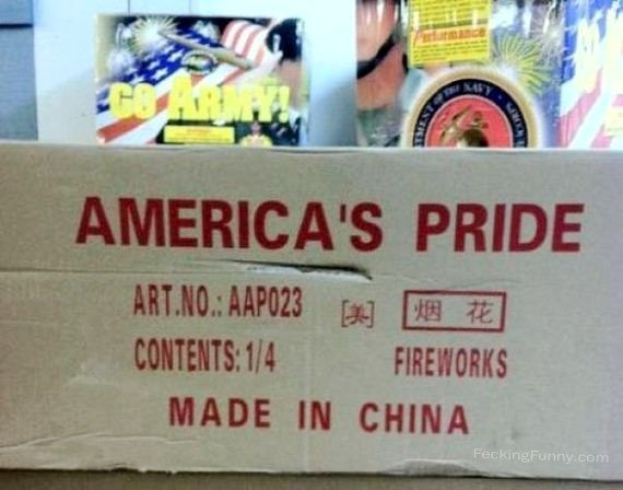 America's Pride: Made in China