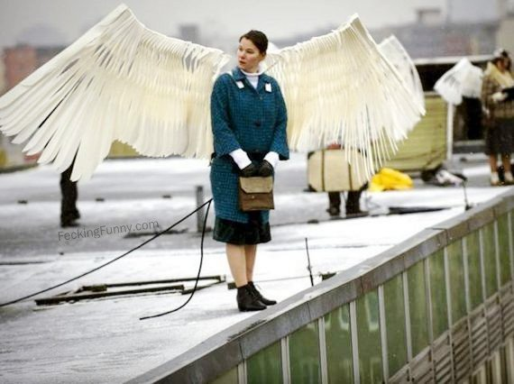 Angel or flying woman?