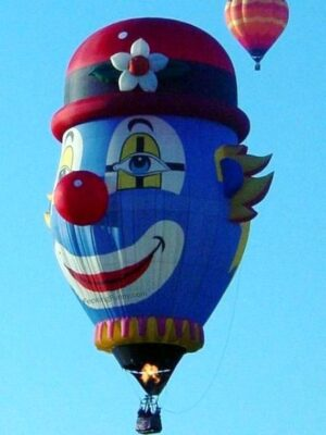 Funny hot balloon: clown