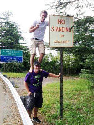 No standing on shoulder