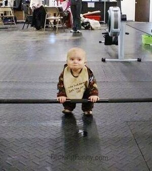 Baby heavy-lifting