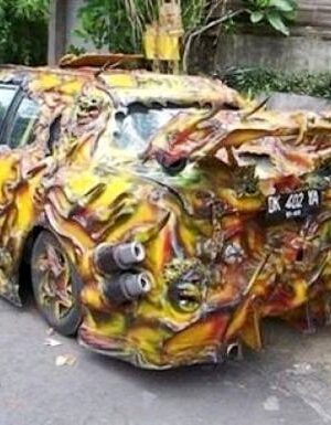 Funny warrior's car