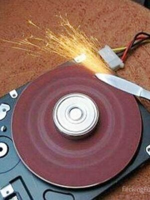 How to use hard disk to sharpen your knife