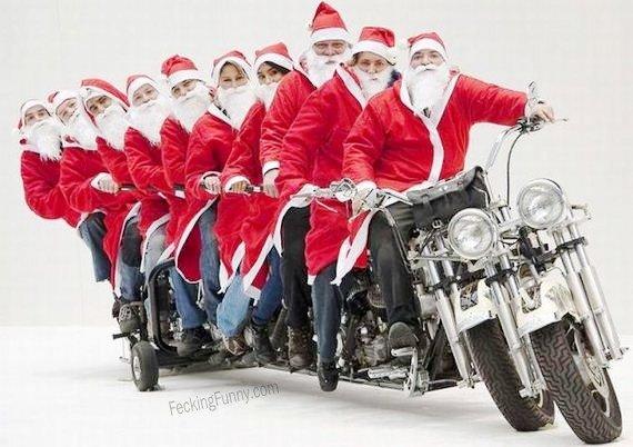 Santa-team-motorbike