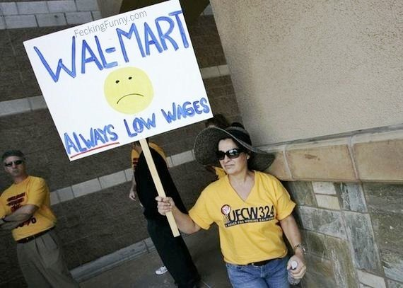 protest-sign-walmart-always-low-wages