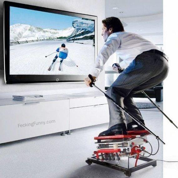 skiing-at-home