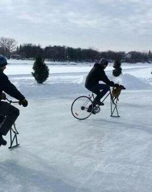 Cycling on ice