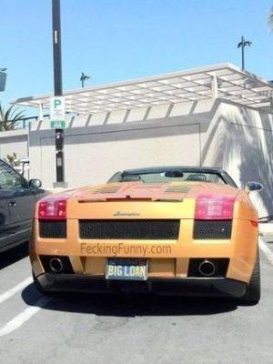 Funny car plate: big loan