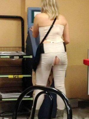Girl exposing her buttocks