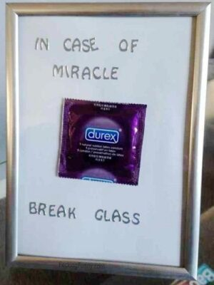 Durex breaks glass