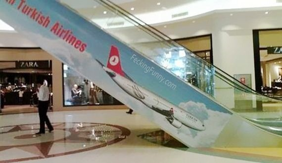 Worst advertisement placement: Turkish Airlines