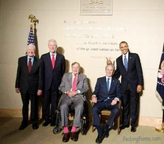 Funny Obama (making fun of  Bush)