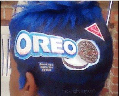 The delicious Oreo hairdo