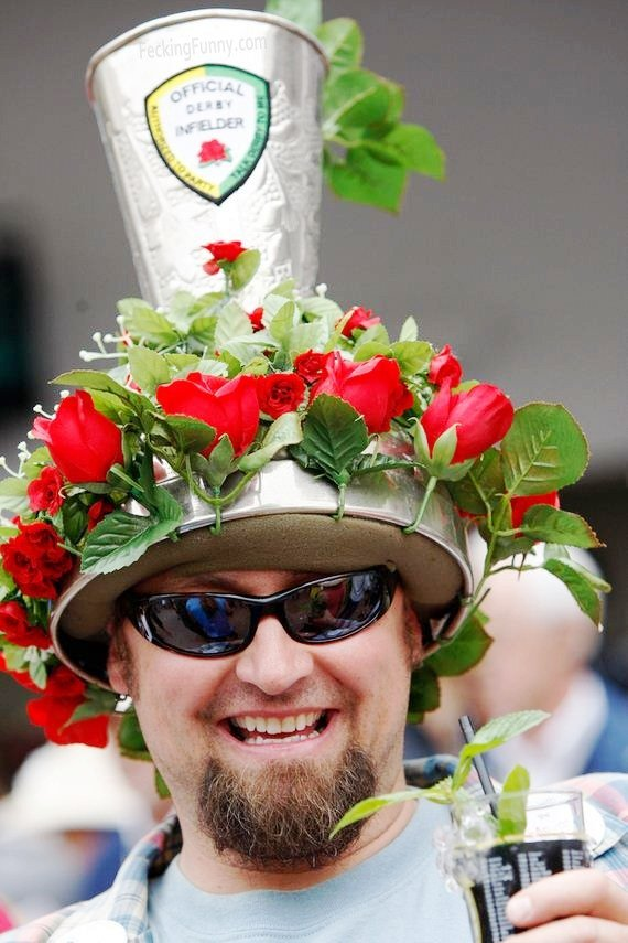Insane Kentucky Derby hat: flowers