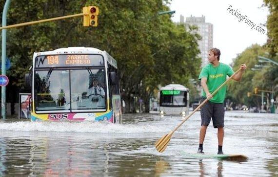 Water bus? bus in water