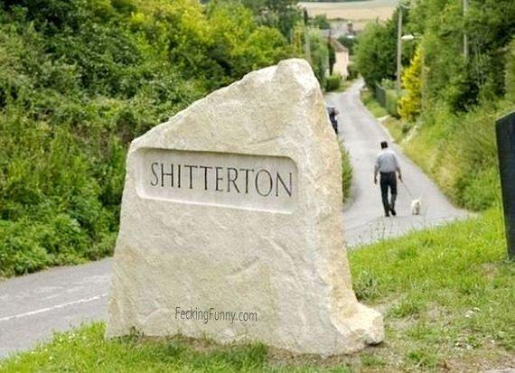 Shit sign: shitteron
