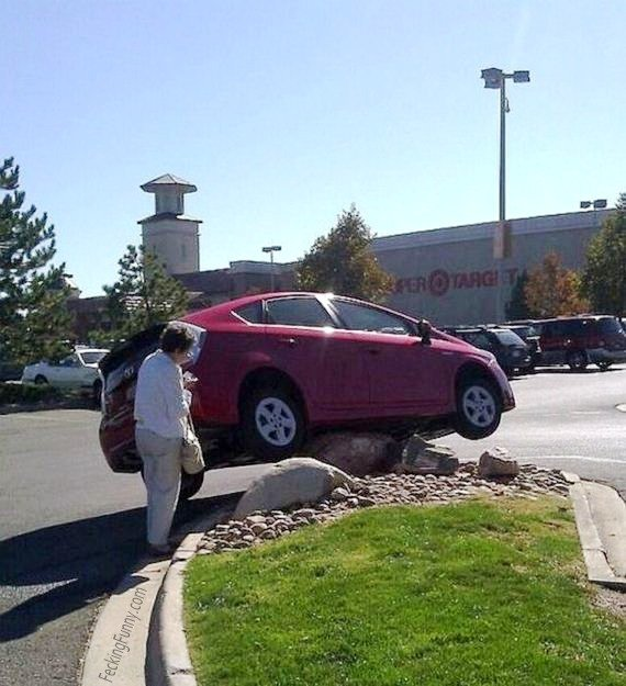 Woman parking again