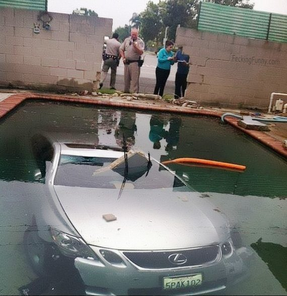 Parking under water: only she can do it