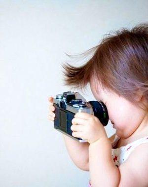 Funny camera baby