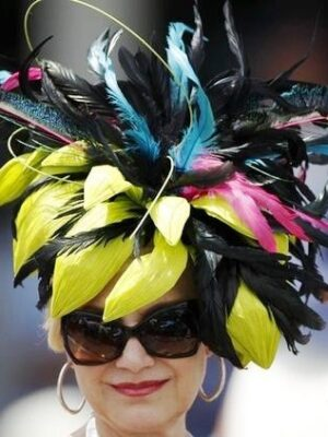 Most insane Kentucky Derby feather hat