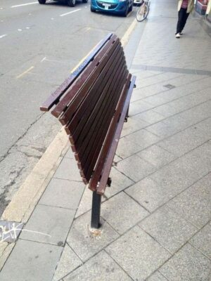 Funny street chair in China