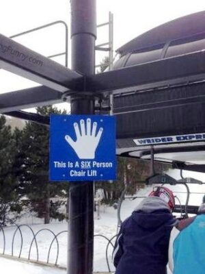Funny sign: 6 persons