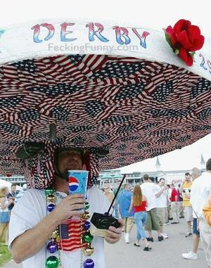 Insane Kentucky Derby Hat: I love USA