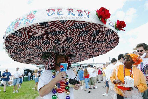 Insane Kentucky Derby Hat: I love USA