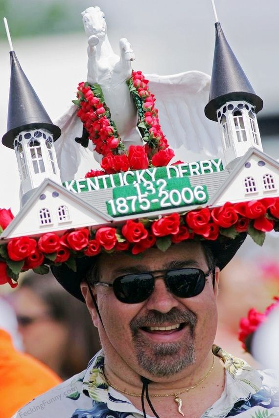 Insane Kentucky Derby Hat: castle