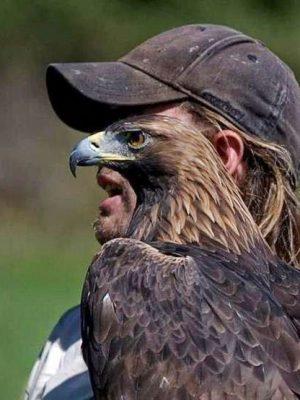 Man with an eagle's eye