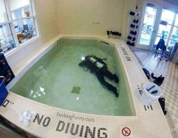 no-diving in pool