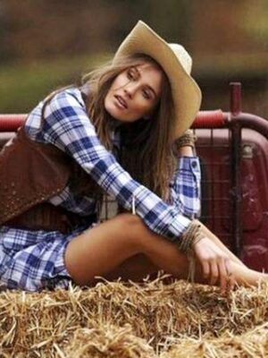 Hot cowgirl on truck
