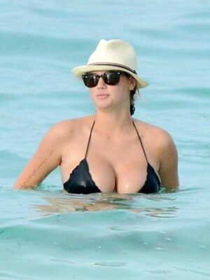 Bikini girl out of water
