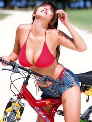 Hot woman on bike