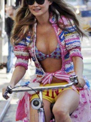 Beautiful girl on bike