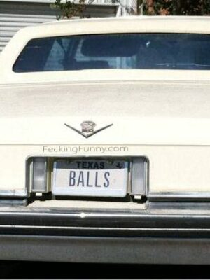 Texas car plate with balls